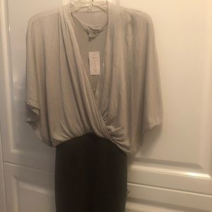 Two tone grey Helmut Lang Dress, tag on